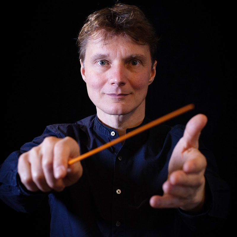 Mat Clasen with orange baton